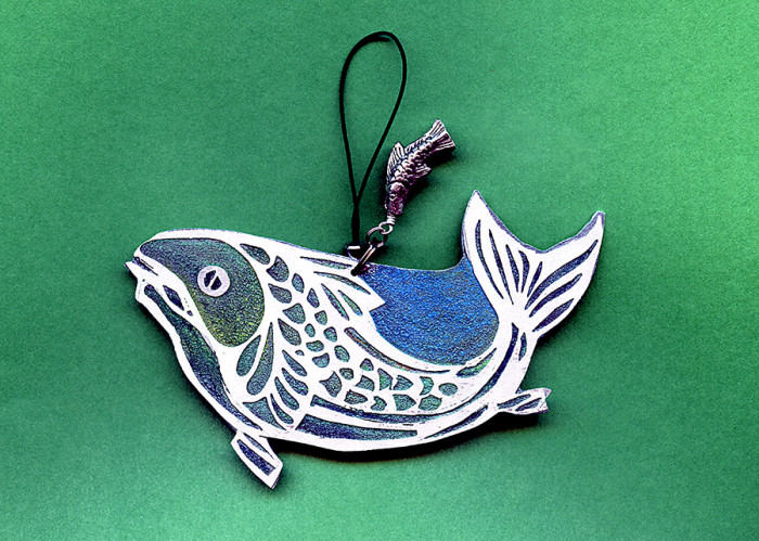 aluminum fish ornament