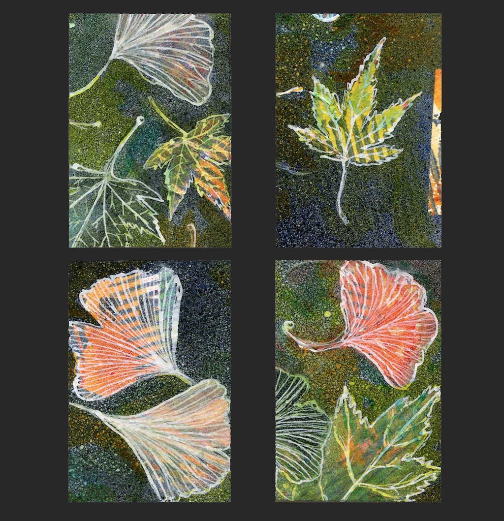 leaf art cards