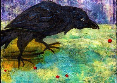 Raven Hunting Berries