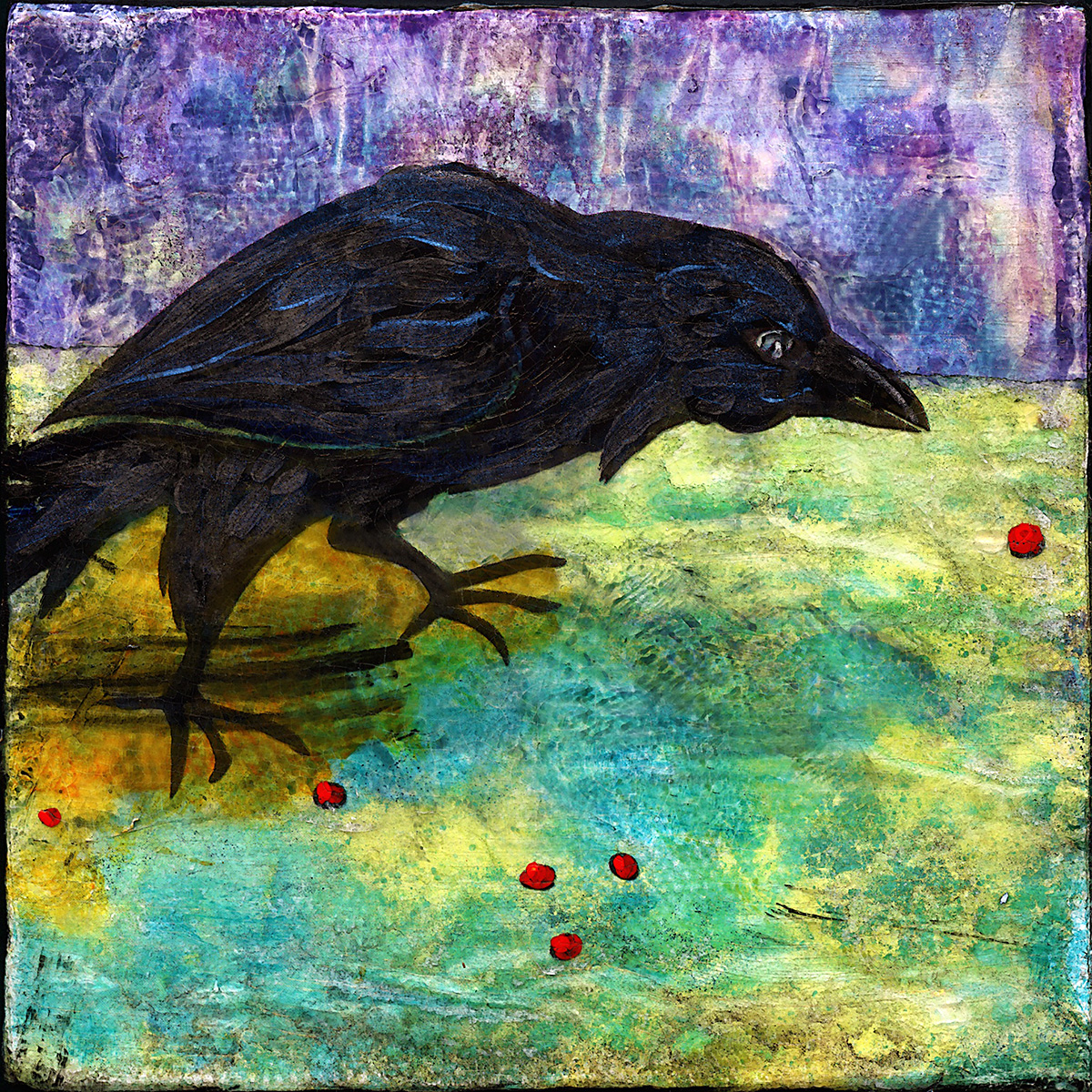 Raven Hunting Berries