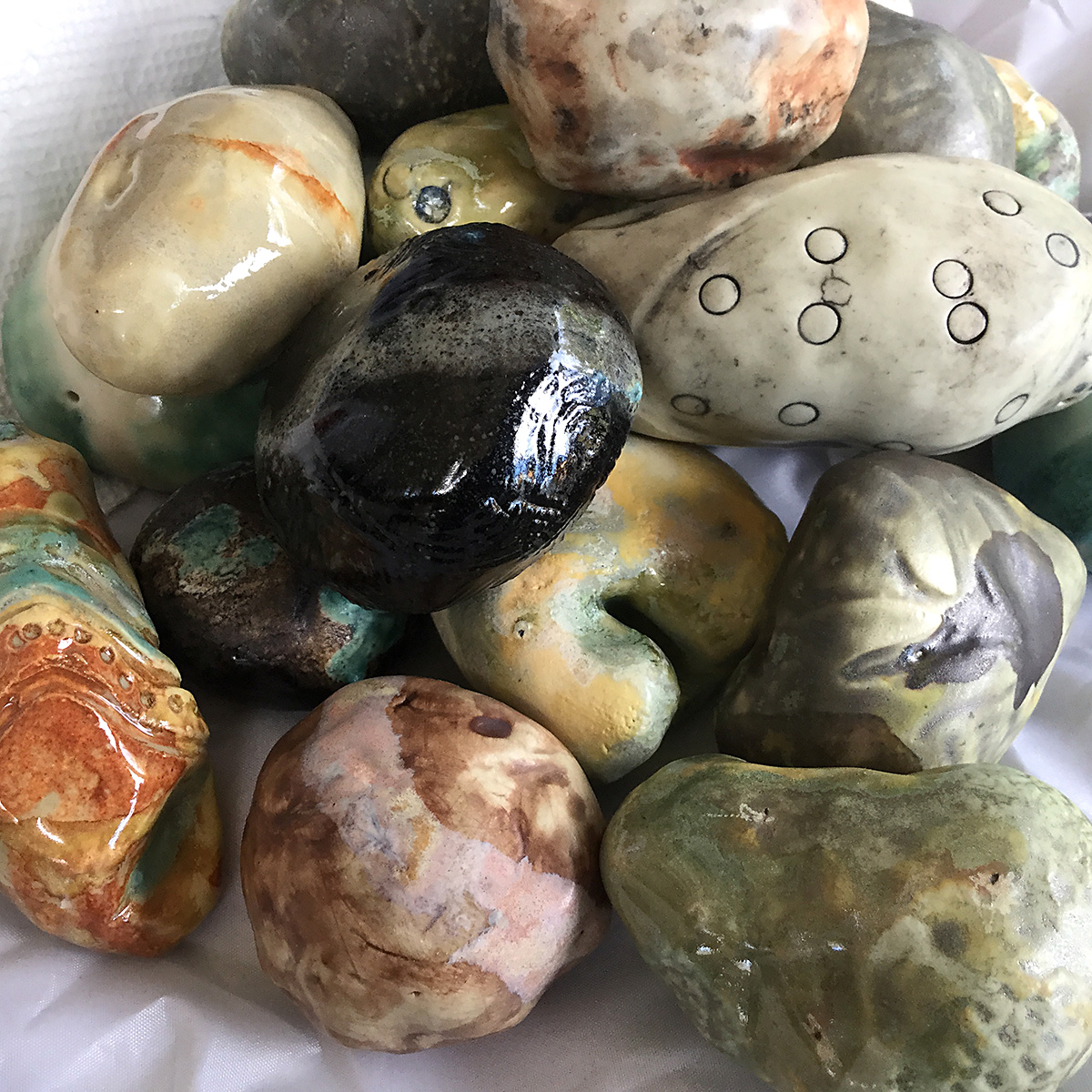 clay stone rattles