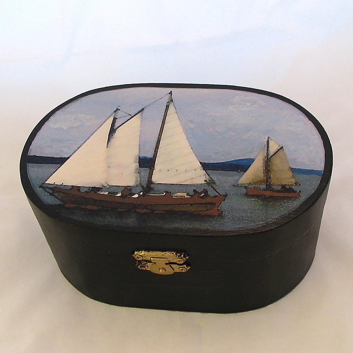 oval sailboat box
