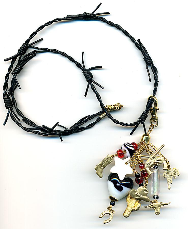 cowboy love necklace