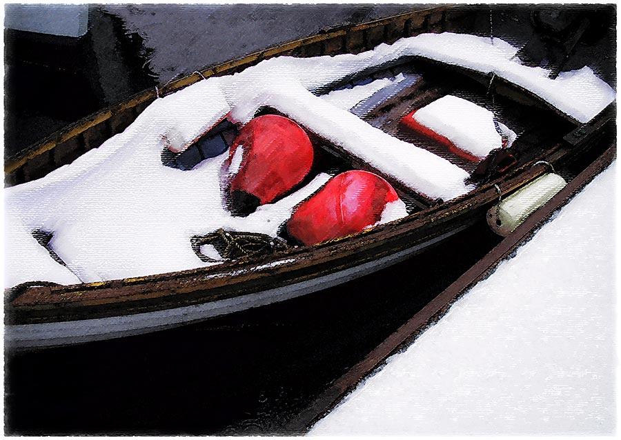 snow dinghy card