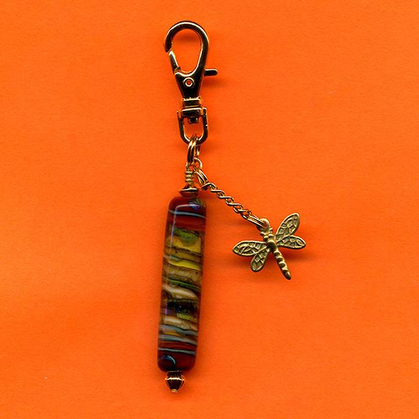 dragonfly zipper pull